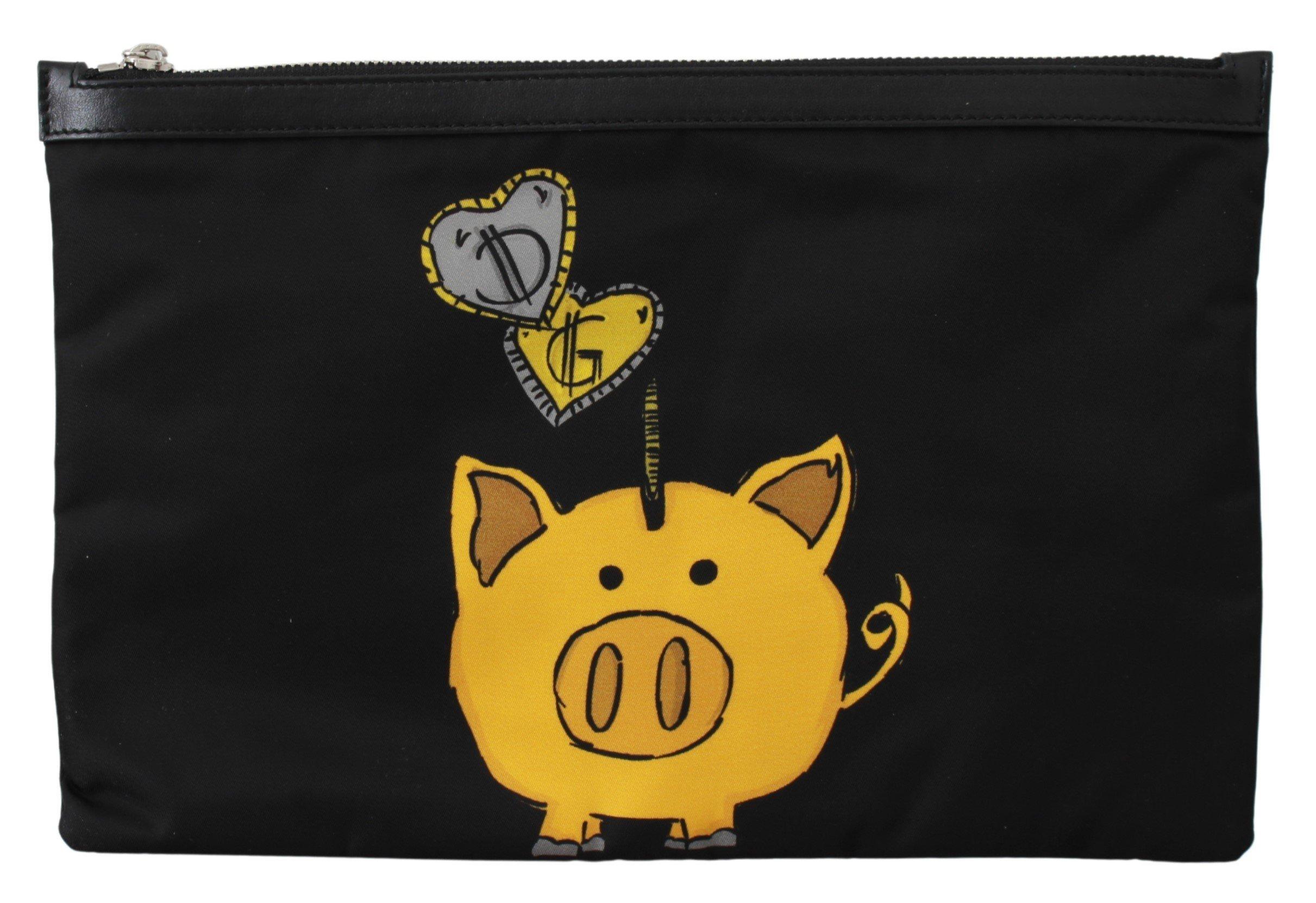 Dolce & Gabbana Men's Pig of the Year Coin Messenger Bag Black VAS9491