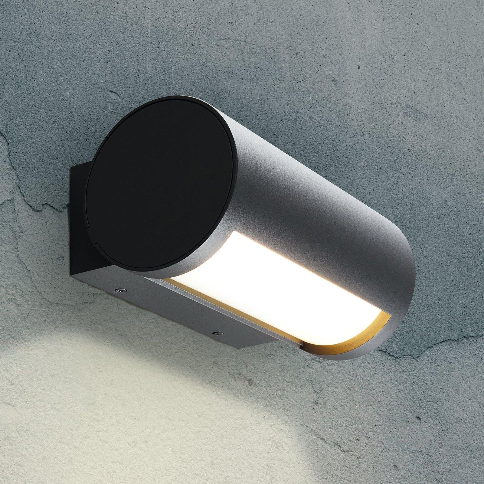 Utendørs LED-vegglampe Timor, justerbart lys