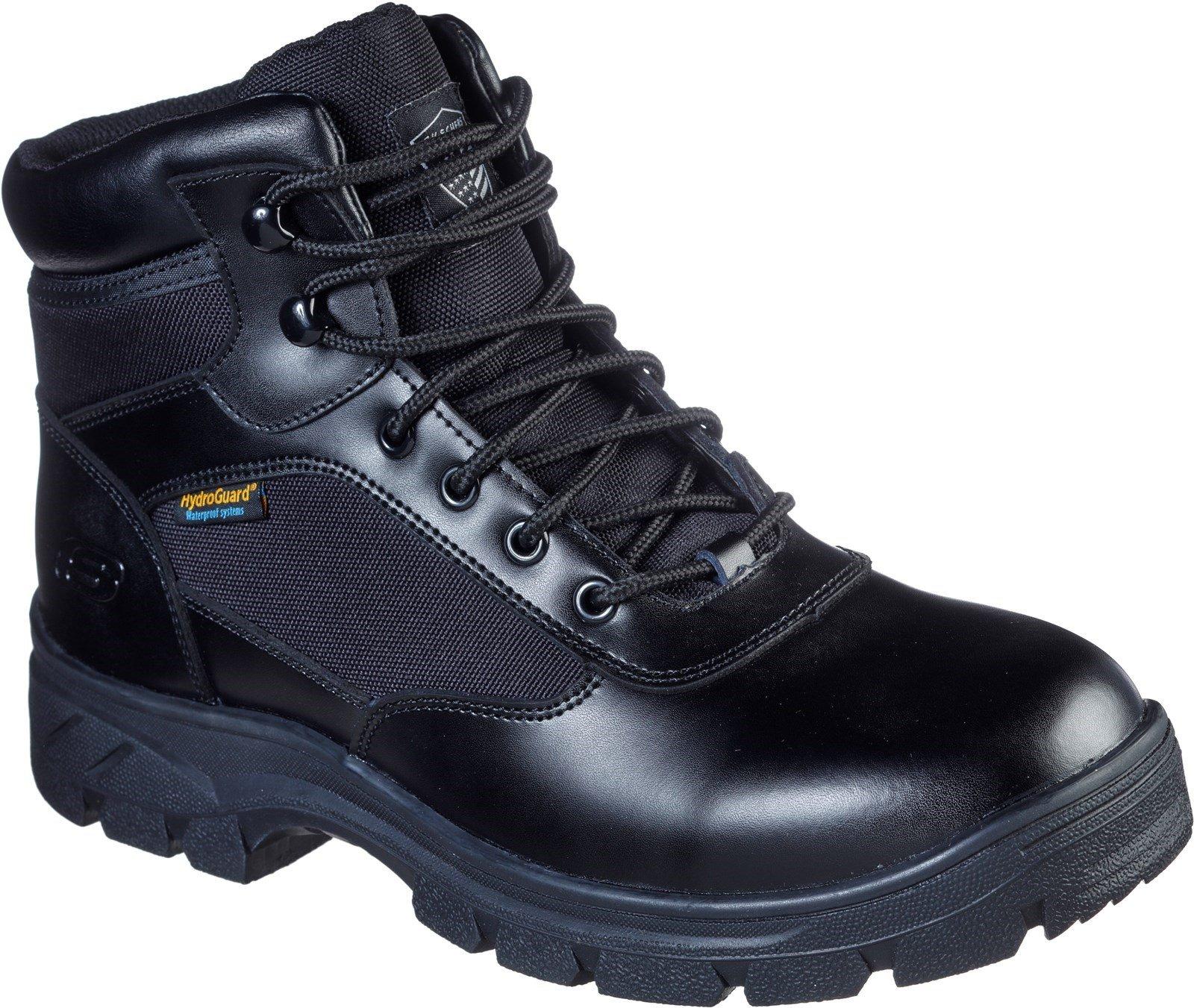 Skechers Unisex Wascana Benen Waterproof Tactical Boot Black 31727 - Black 6