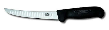 Boning knife, black Fibrox, fluted edge