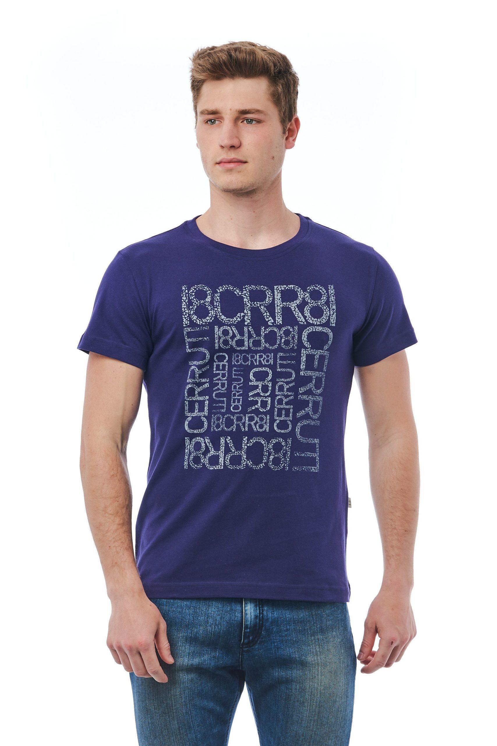 Cerruti 1881 Men's Blu Navy T-Shirt Blue CE1409930 - M