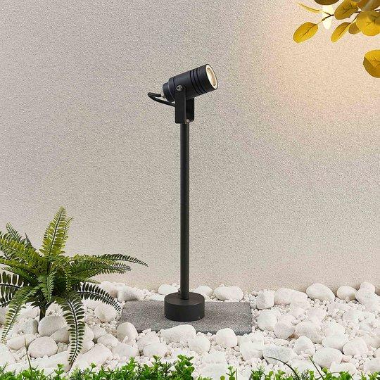 Ulkokohdevalaisin Galina, tummanharmaa, 55,5 cm