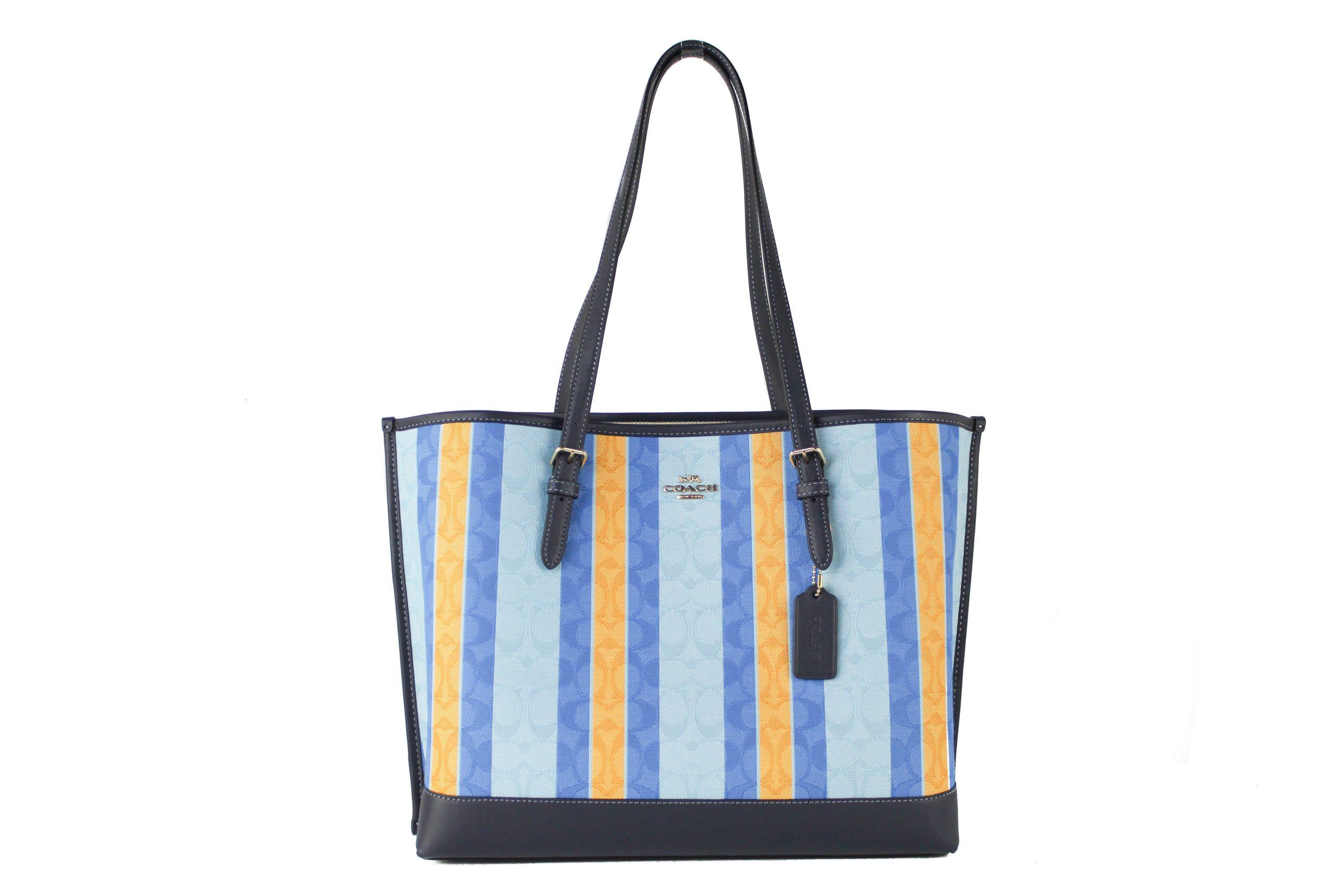 COACH Women's Jacquard Tote Bag Blue 265853