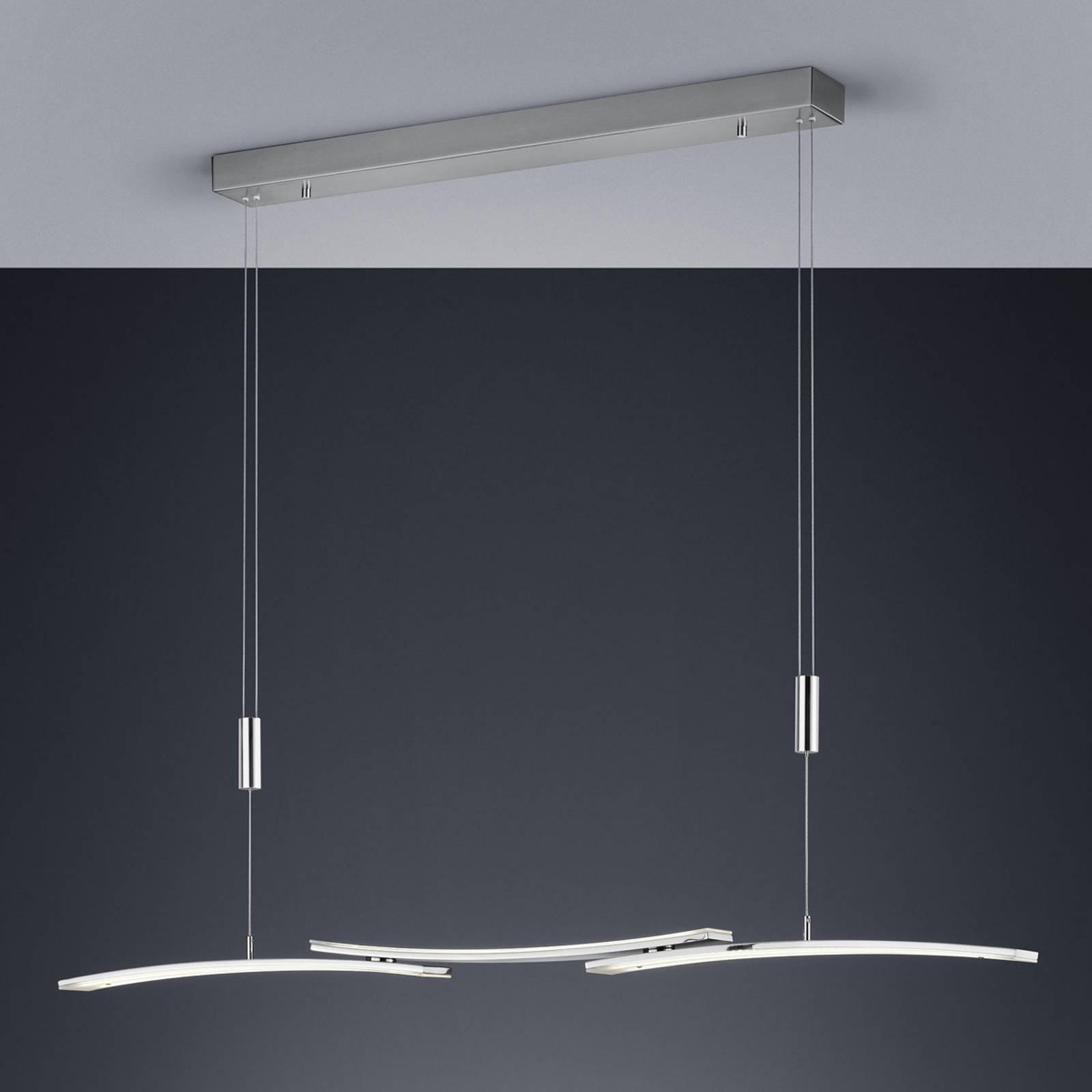 BANKAMP 2138/3-92 LED-riippuvalaisin nikkeli matta