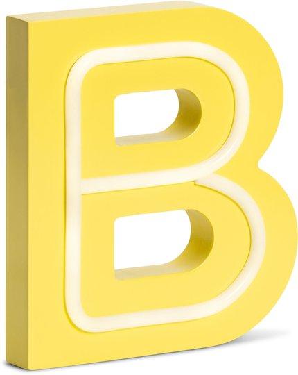POPP Bokstavlampe B, Gul