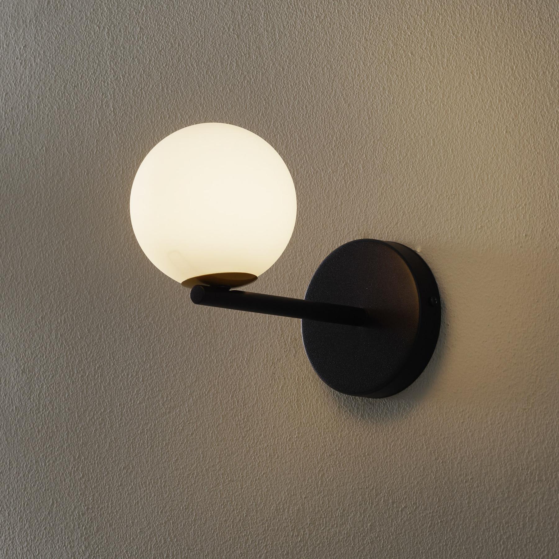 Seinävalaisin Gama, musta, lasipallot