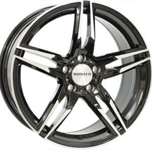 Monaco GP1 Gloss Black Polished 8x19 5/112 ET45 B66.5