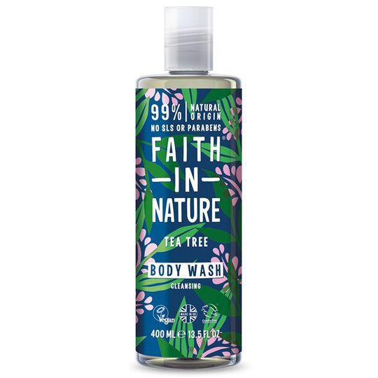 Faith in Nature Tea Tree Body Wash, 400 ml