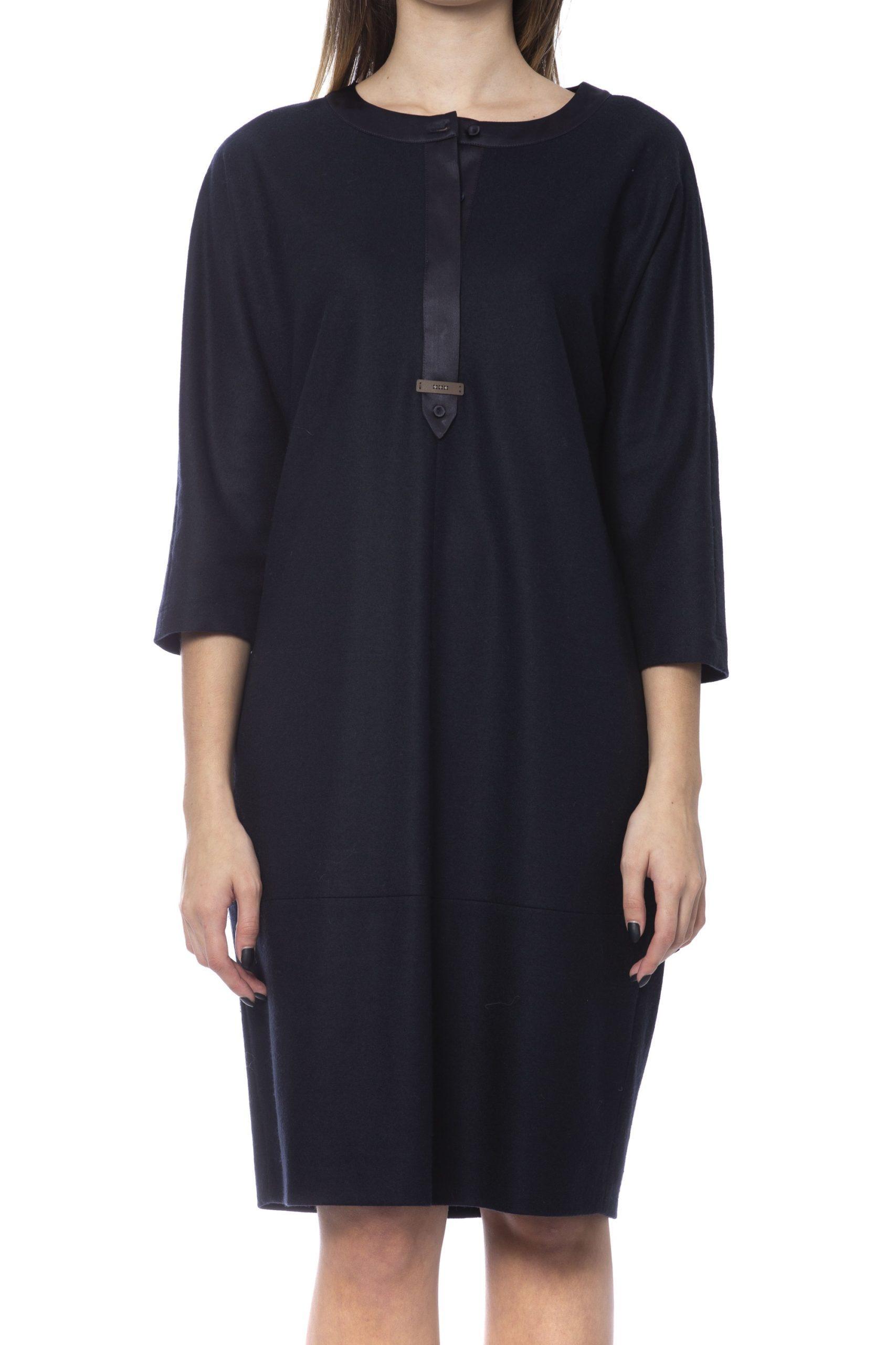 Peserico Women's Dress Black PE992196 - IT42 | S
