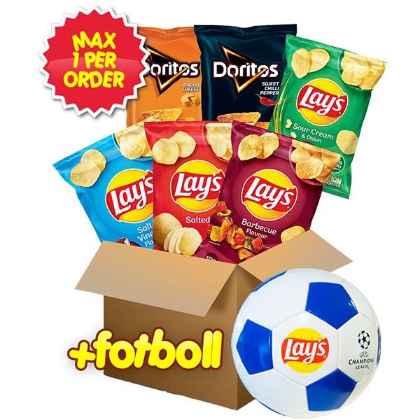 Lay's Doritos 6 påsar + Fotboll