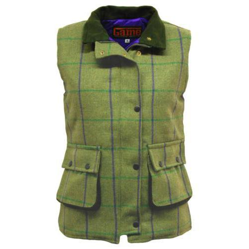 Game Technical Apparel Unisex Jacket Various Colours Tweed Gilet - Abby (Purple Lining) 12