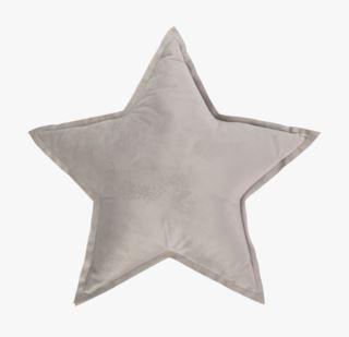 Stjerne velour koristetyyny vaaleanharmaa