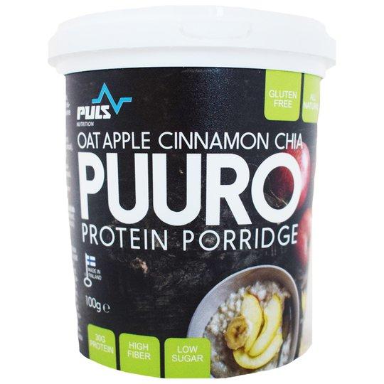 Proteiinipuuro Oat, Apple, Cinnamon & Chia - 43% alennus
