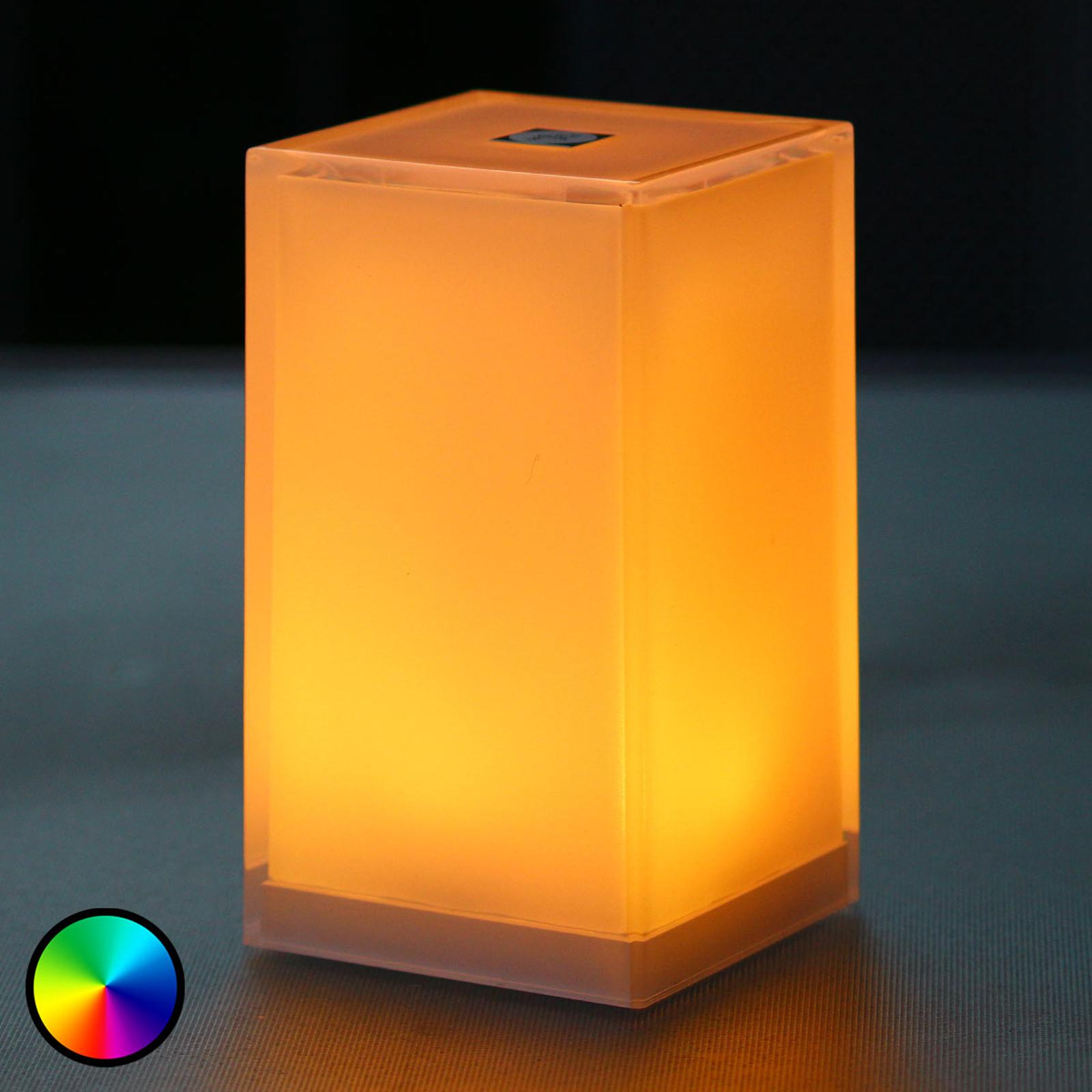 Kannettava pöytälamppu Cub, sovellusohjattava RGBW