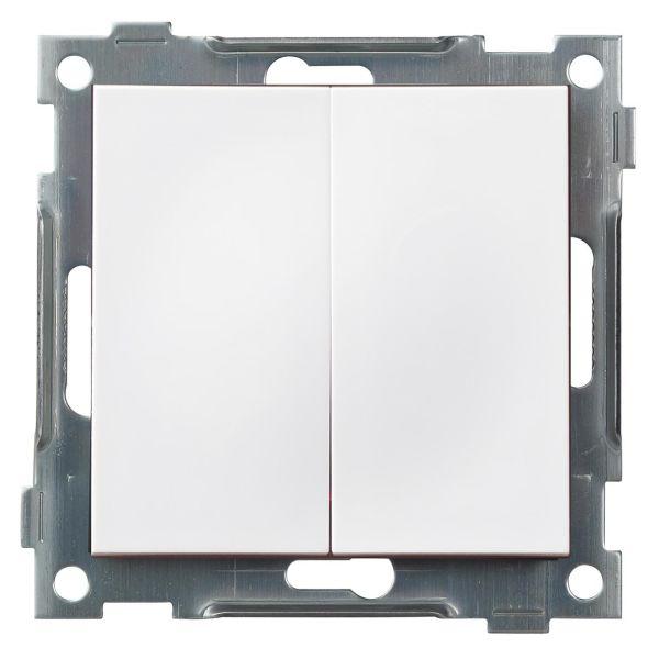 Elko Plus Kron Snabb Strømstiller hvit, hurtigkobling uten ramme