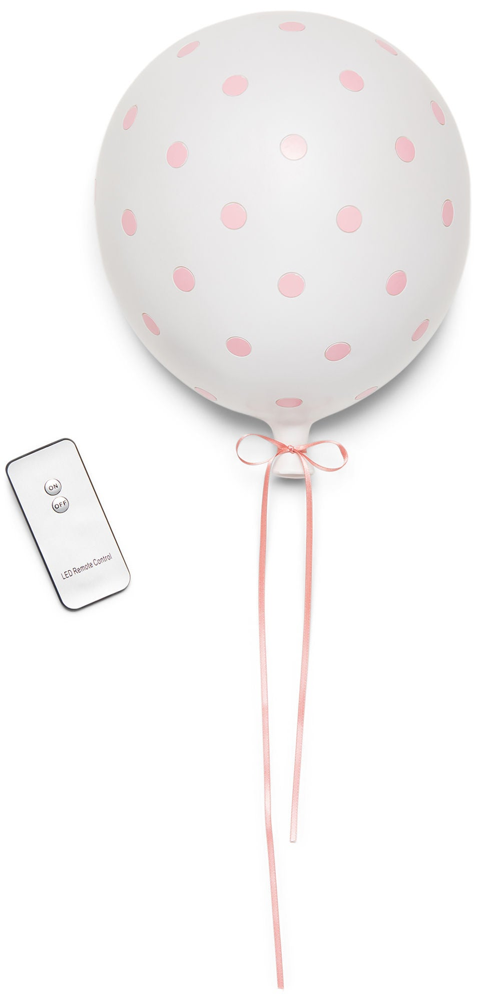 Lilou Lilou Seinävalaisin Ilmapallo Pilkut, Pink/White