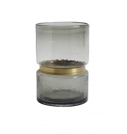 RING Vase Glass Smoke L
