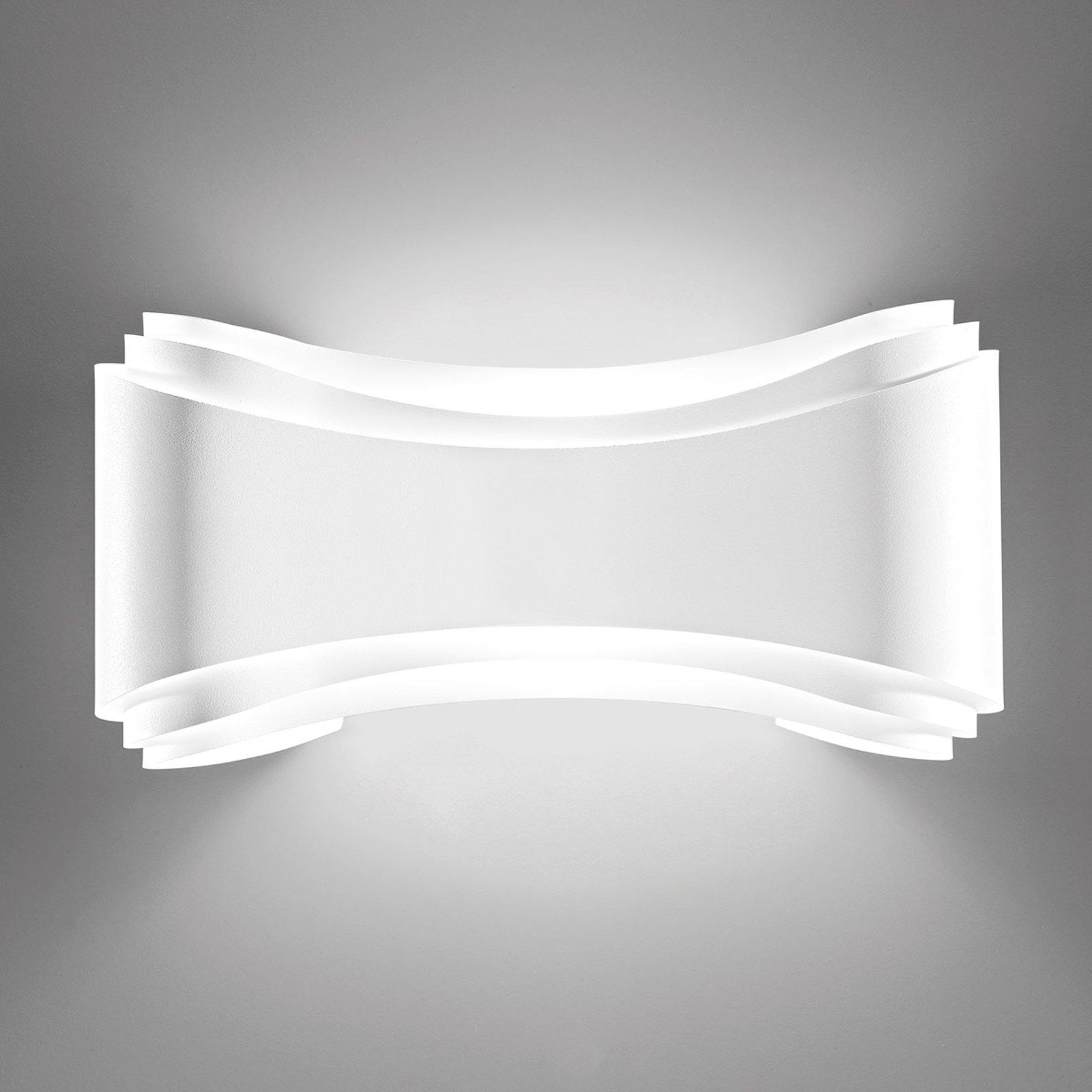 LED-designer-vegglampe Ionica i hvit