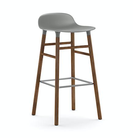 Form Barstol Grå/Valnøtt 75 cm