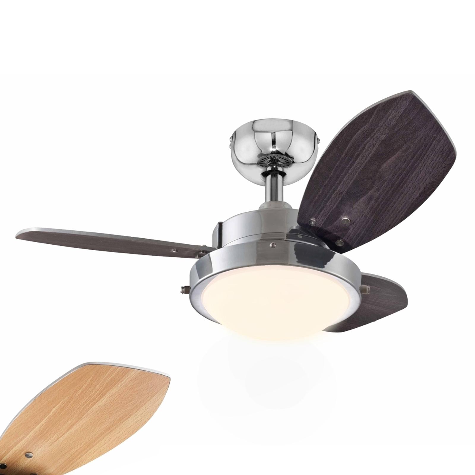 Wengue-kattotuuletin halogeenilampulla