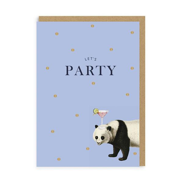 Let's Party Panda Birthday Greeting Card