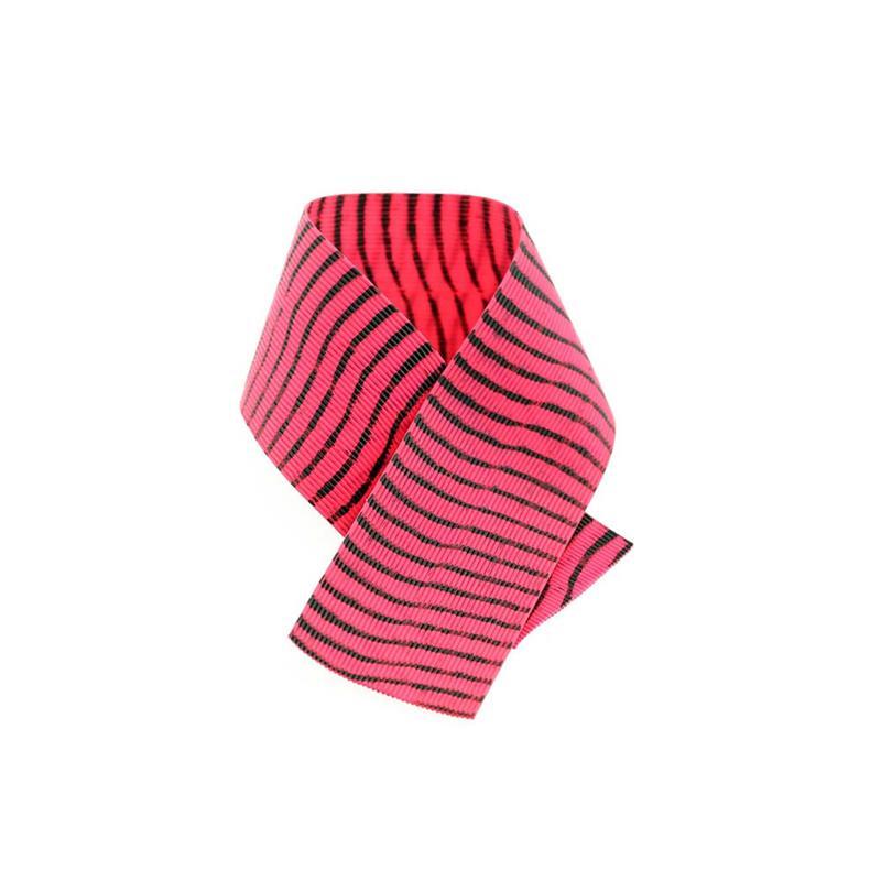 Barred Round Rubberlegs Pink/Black