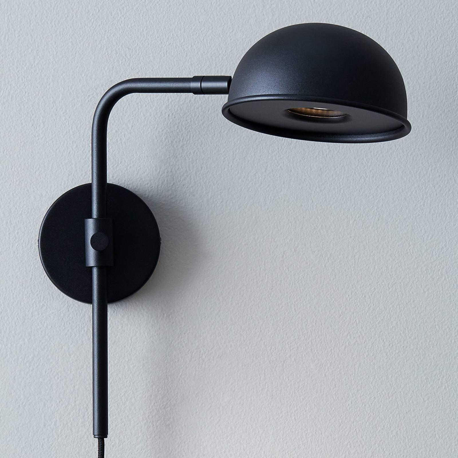 LED-vegglampe Bolero med dimmer, svart