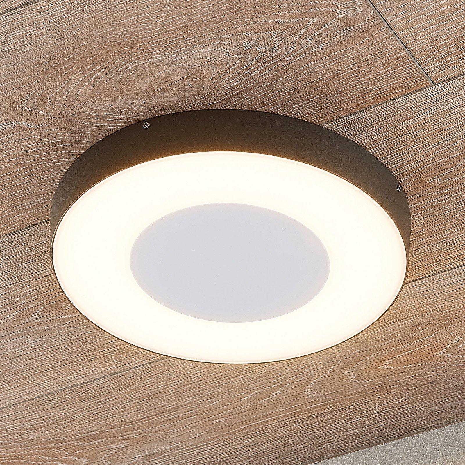 LED utendørs taklampe Sora, rund