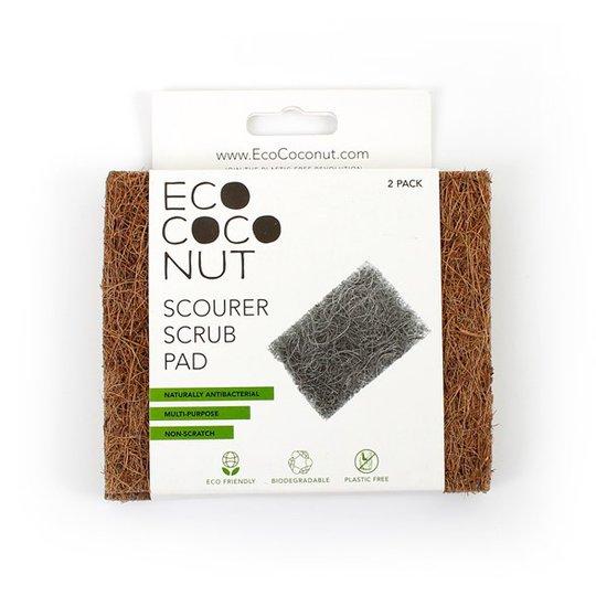 EcoCoconut Skrubbdyna Kokosnötsfiber, 2-pack