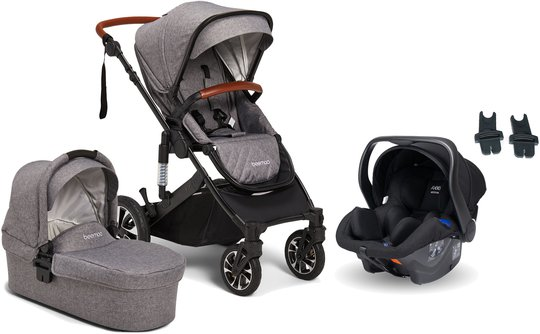 Beemoo Maxi 4 Duovogn Inkl. Axkid Modukid Infant Babybilstol, Grey/Black