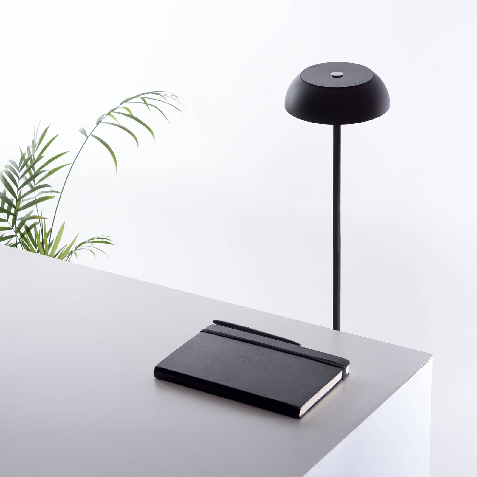 Axolight Float LED-designer-lattiavalo, musta