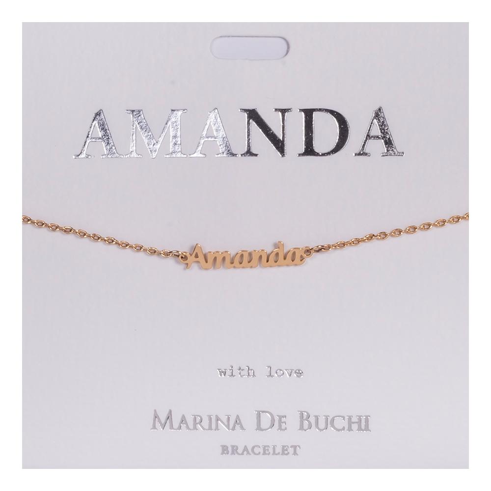 Namnarmband Guld - Amanda