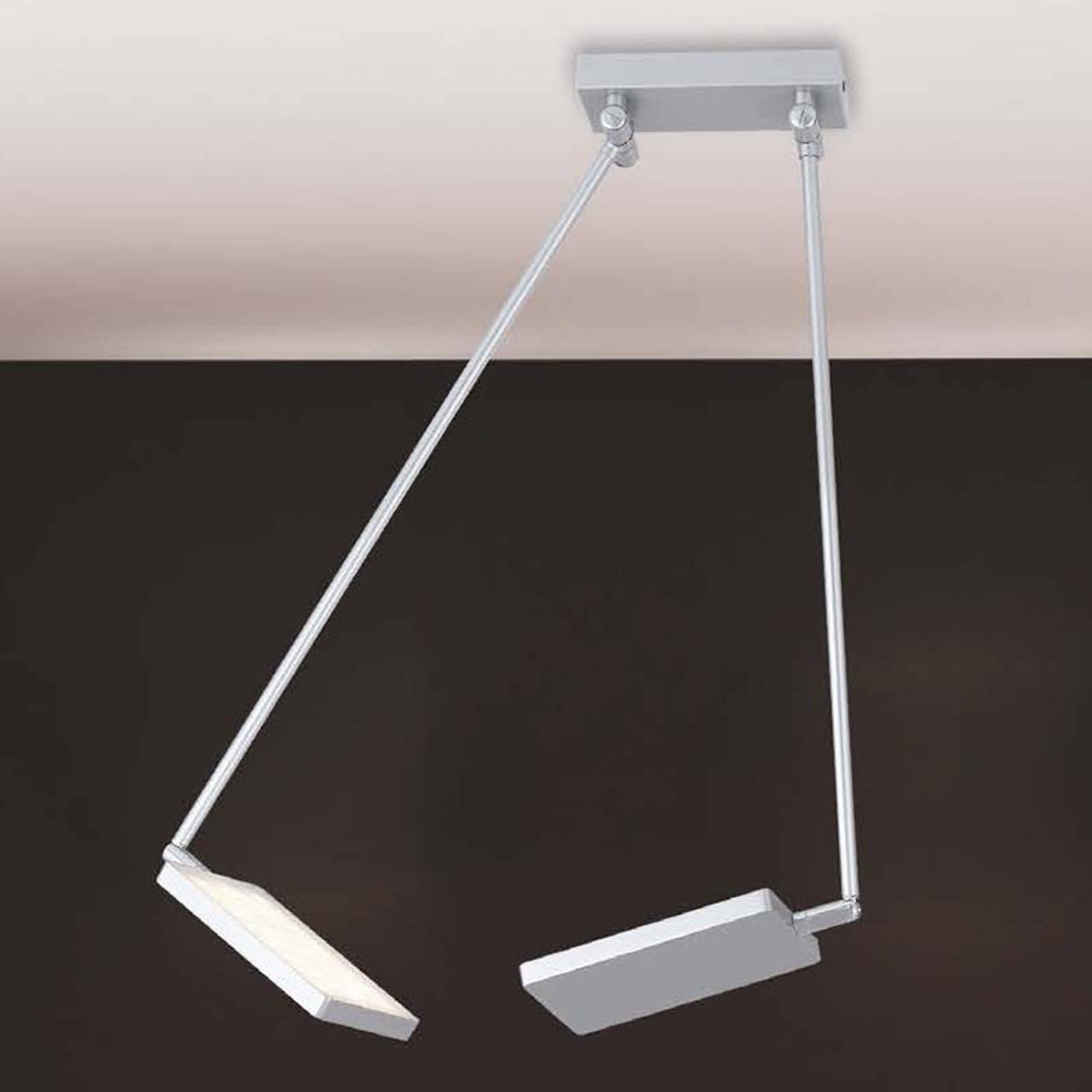 LED-taklampe Book, grå