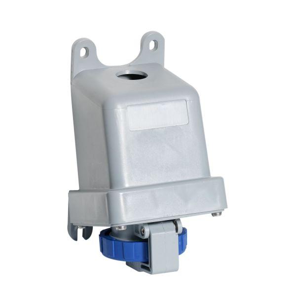 ABB 2CMA167172R1000 Seinäpistorasia IP67, 32 A, ulkoinen kiinnitys 3-napainen, sininen