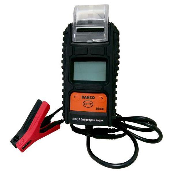 Bahco BBT80 Akkutesteri tulostimella, 6 ja 12 V