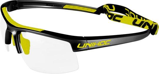 Unihoc Eyewear Energy JR, Svart/Neon/Gul
