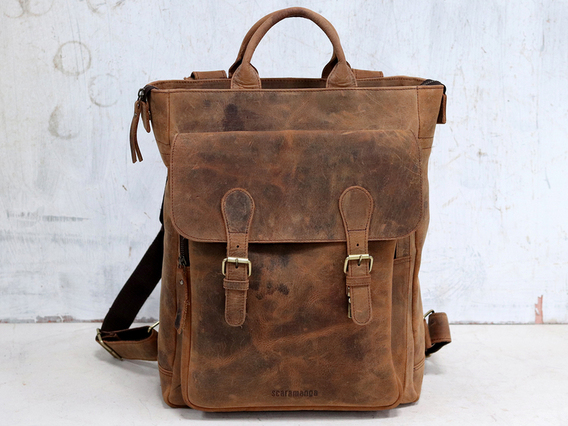 Laptop Leather Backpack For Women - Odyssey