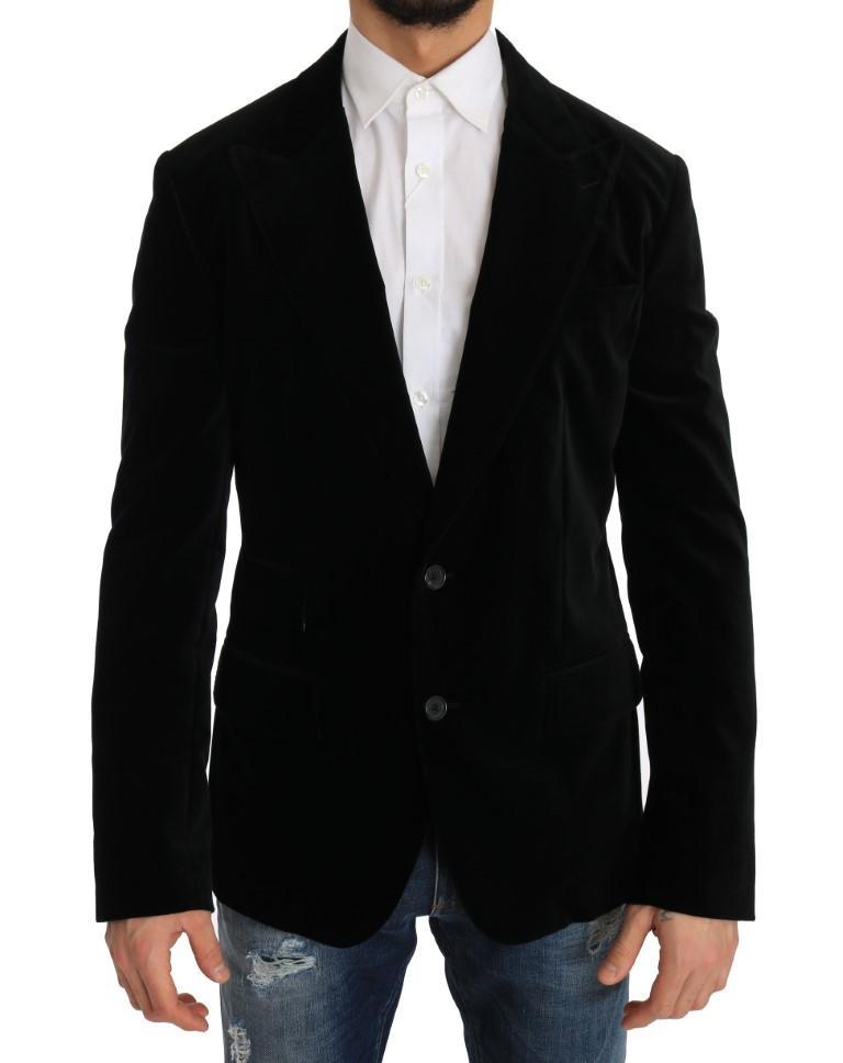Dolce & Gabbana Men's Single Breasted Blazer Black JKT1225 - IT50 | L