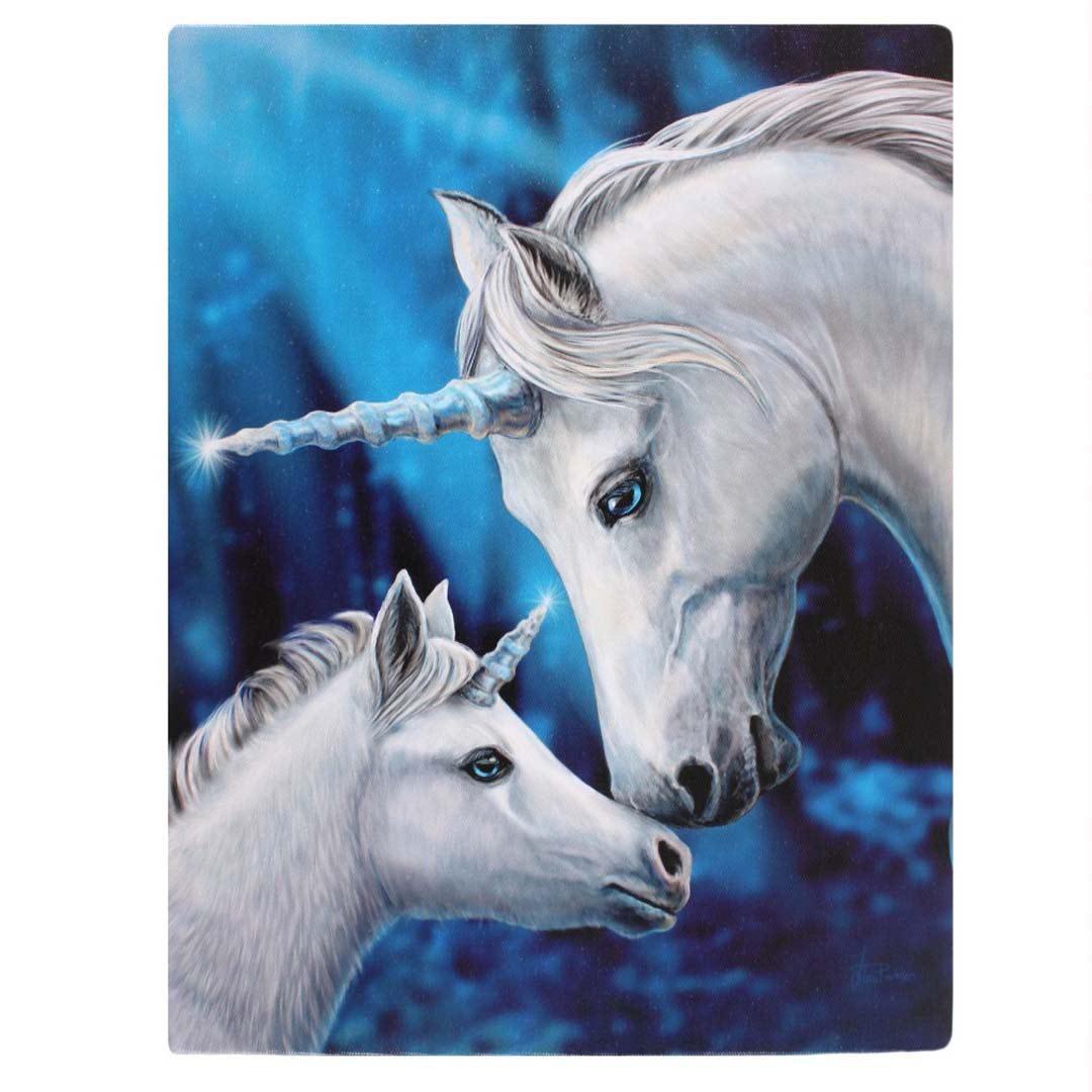 Enhörningar Canvastavla av Lisa Parker