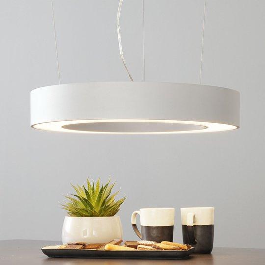 Arcchio Pietro -LED-riippuvalaisin hopea 50cm 30W