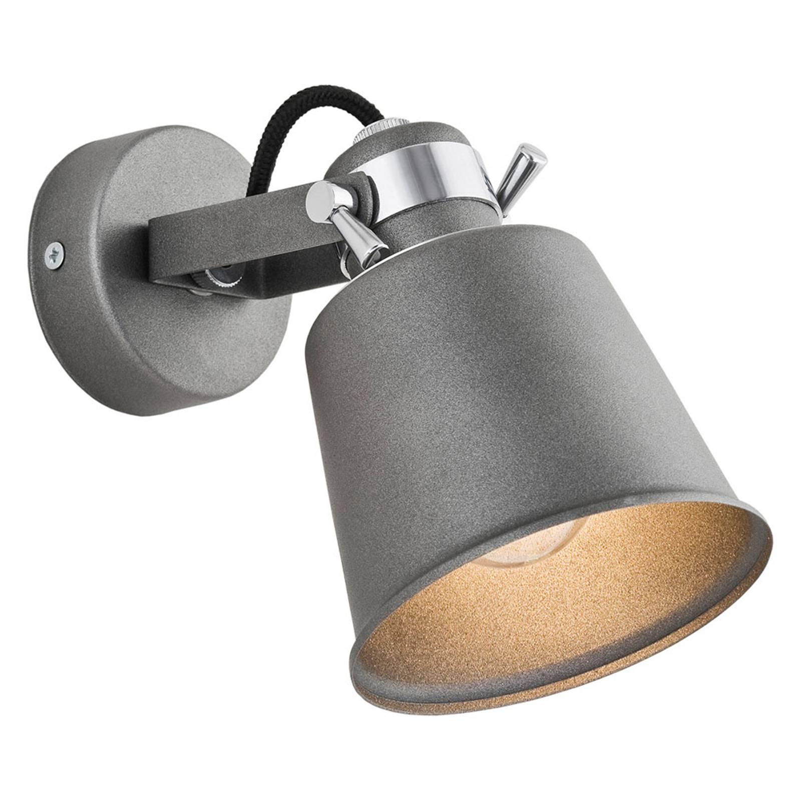 Seinäkohdevalaisin Kerava 1-lamppuinen antrasiitti