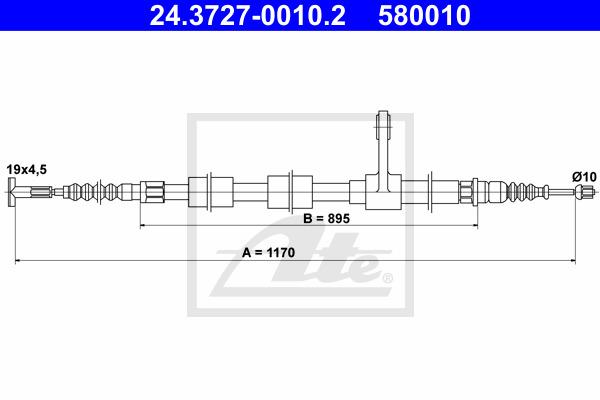 Käsijarruvaijeri ATE 24.3727-0010.2