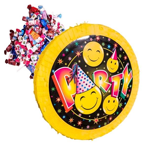 PIÑATA SMILEYS + 1 kg godis