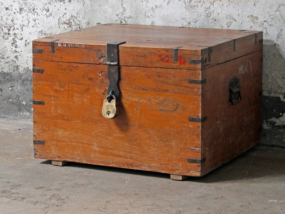Wooden Storage Chest Large