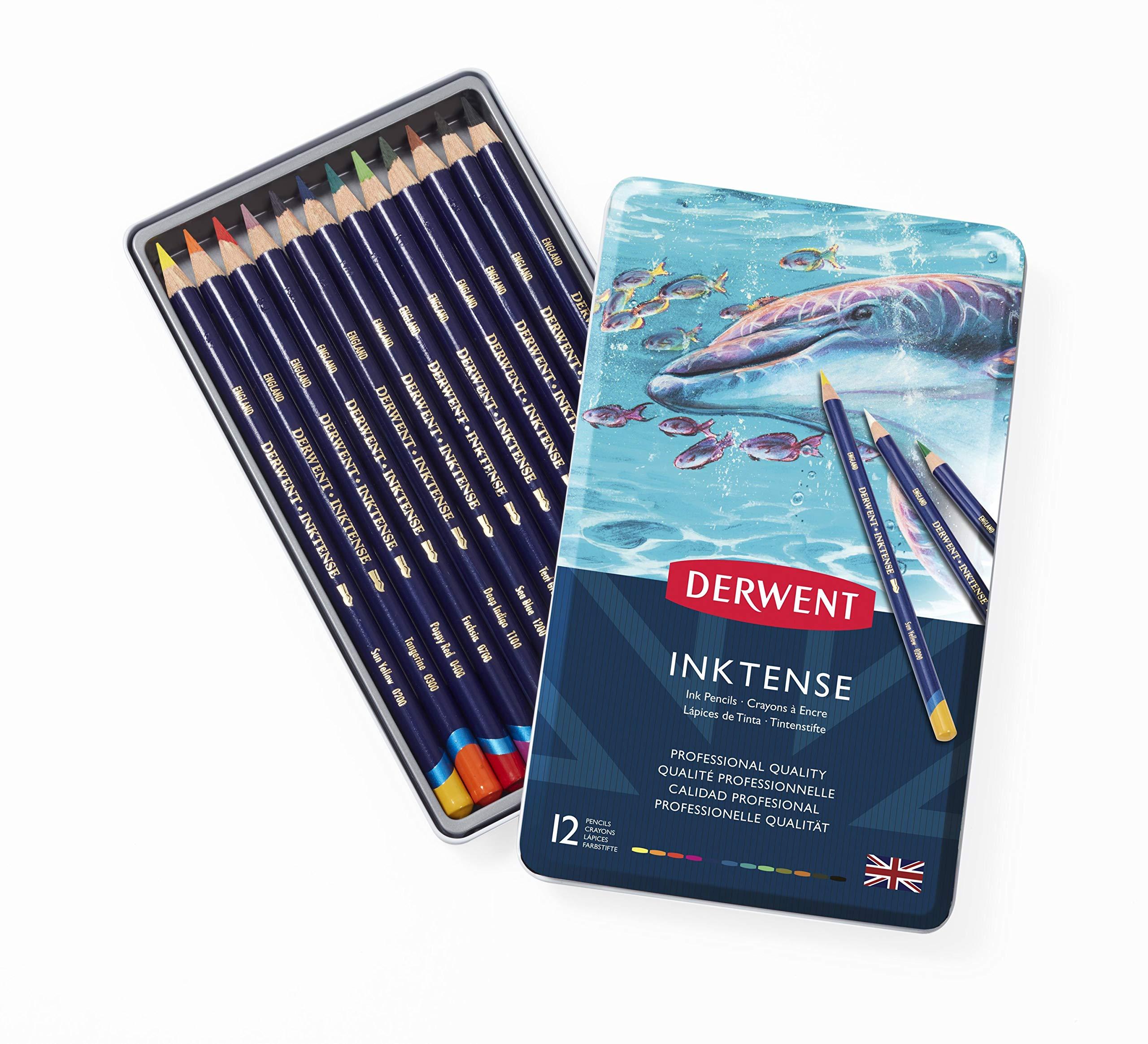 Derwent - Inktense Pencils, 12 Tin