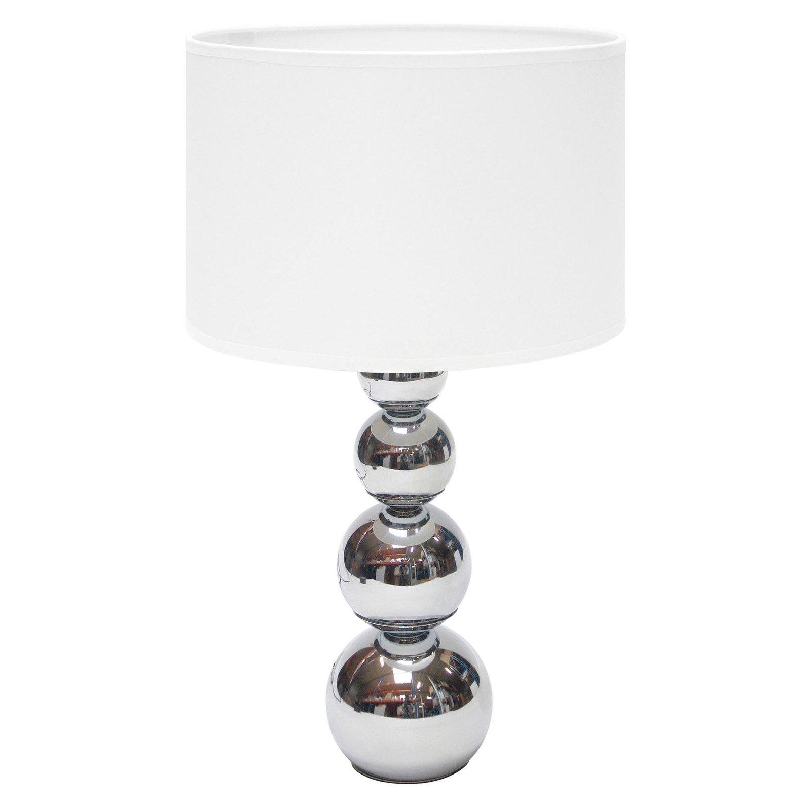 Bordlampe Mandy, berøringsfunksjon, hvit
