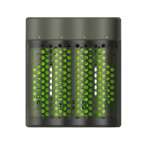 GP Batteries ReCyko Speed M451 Akkulaturi AA-paristoilla