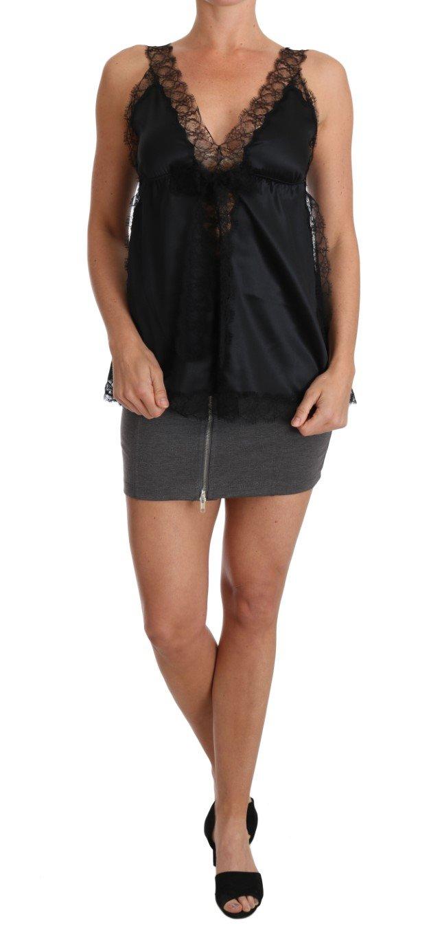 Dolce & Gabbana Women's Cami Lace Silk Stretch Dress Black BIK095 - IT44 L