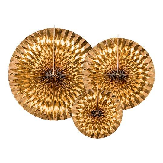Pappersfjädrar Guld Metallic