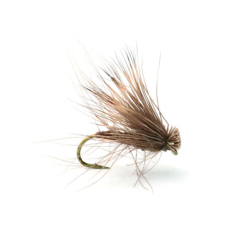 Cdc Elk Caddis Brown #14 Kjøp 12 fluer få gratis flueboks